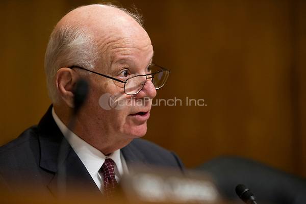 United States Senator Ben Cardin (Democrat of Maryland), asks Kathleen Hartnett White a question during her confirmation hearing to be a Member of the Council on Environmental Quality before the United States Senate Committee on the Environment and Public Works on Capitol Hill in Washington, D.C. on November 8th, 2017. Credit: Alex Edelman / CNP /MediaPunch