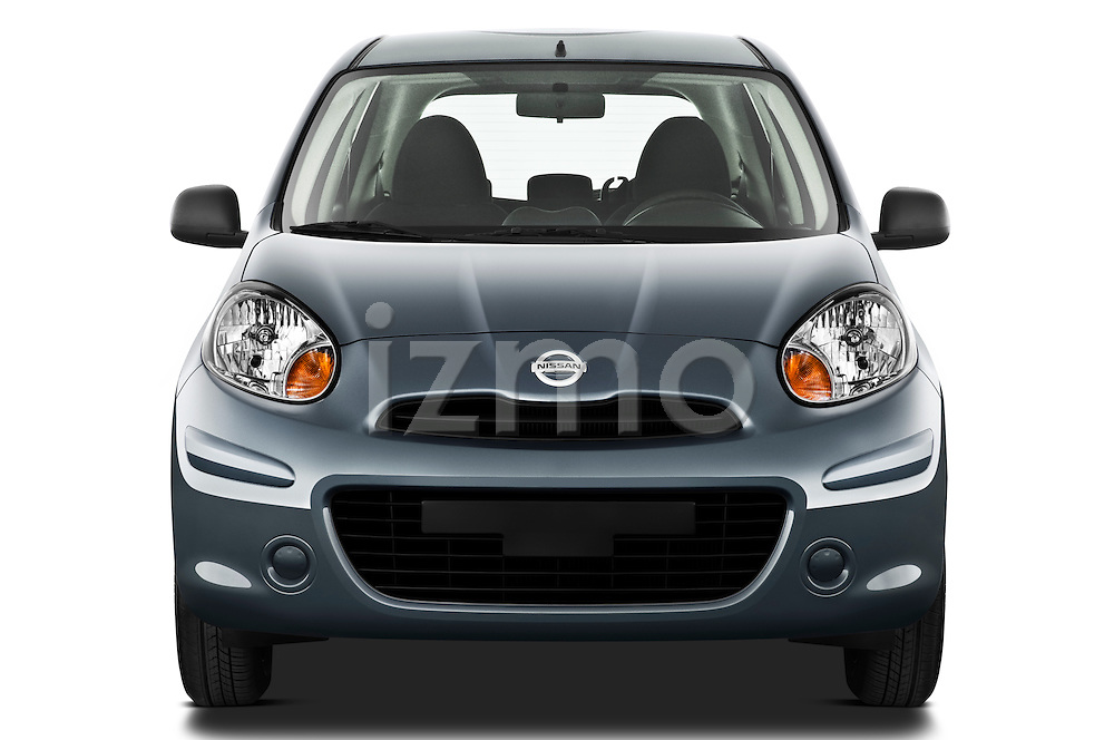Straight front view of a 2011 Nissan Micra Visia 5 Door Micro Car