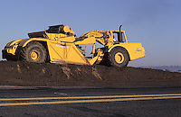 Grader doing road construction in eastern Washington.