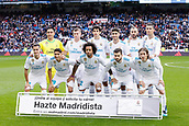 9th December 2017, Santiago Bernabeu, Madrid, Spain; La Liga football, Real Madrid versus Sevilla; The Real Madrid team lineup before the game