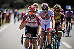 Lotto-Soudal on the front of the peloton during Stage 16 of the 2019 Tour de France running 177km from Nimes to Nimes, France. 23rd July 2019.<br /> Picture: ASO/Pauline Ballet | Cyclefile<br /> All photos usage must carry mandatory copyright credit (© Cyclefile | ASO/Pauline Ballet)