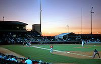 Ballparks: Lancaster Municipal Stadium--game in progress.