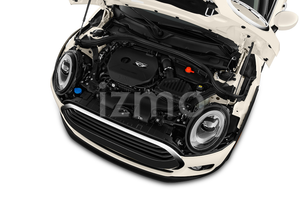 Car Stock 2016 MINI Clubman One 5 Door Wagon Engine  high angle detail view