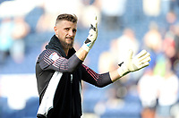 Preston North End's Declan Rudd applauds the fans at the final whistle<br /> <br /> Photographer Rich Linley/CameraSport<br /> <br /> The EFL Championship - Preston North End v Sheffield Wednesday - Saturday August 24th 2019 - Deepdale Stadium - Preston<br /> <br /> World Copyright © 2019 CameraSport. All rights reserved. 43 Linden Ave. Countesthorpe. Leicester. England. LE8 5PG - Tel: +44 (0) 116 277 4147 - admin@camerasport.com - www.camerasport.com