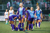 Allston, MA - Sunday July 31, 2016: Jasmyne Spencer during a regular season National Women's Soccer League (NWSL) match between the Boston Breakers and the Orlando Pride at Jordan Field.
