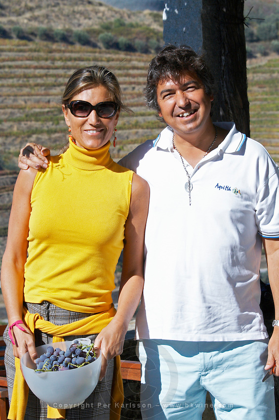 Joao Ferreira owner with friend quinta do vallado douro portugal