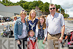 Pictured at the 75th Anniversary Air Show in Foynes on Sunday were L-R Mary, Nicola, Claire and Councillor John Sheehan, Glin and May O'Sullivan, Galway, front red dress.