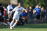 06 September 2013: Duke's Christina Gibbons. The Duke University Blue Devils hosted the West Virginia University Mountaineers at Koskinen Stadium in Durham, NC in a 2013 NCAA Division I Women's Soccer match. The game ended in a 1-1 tie after two overtimes.