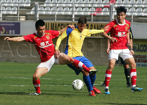 27.01.2012 Cadiz, SPAIN - Friendly football match  played between Cadiz C.F. versus Guangzhou