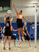14.10.2016 Silver Ferns Phoenix Karaka in action at the Silver Ferns training at the Auckland Netball Centre in Auckland. Mandatory Photo Credit ©Michael Bradley.