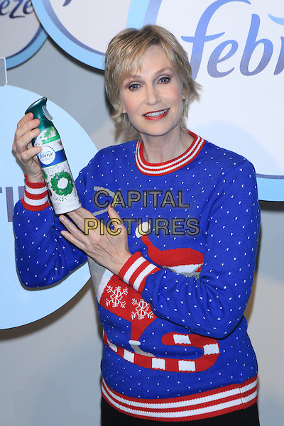 NEW YORK, NY - NOVEMBER 30:  Actress Jane Lynch attends Febreze 'The #12Stinks of Christmas' video debut at Lightbox on November 30, 2015 in New York City.  <br /> CAP/MPI99<br /> &copy;MPI99/Capital Pictures