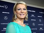 12.11.2014, Hyatt, Berlin, GER, Berlin, Laureus, Medien Preis 2014, im Bild Maria Hoefl-Riesch mit Gatte<br /> <br />               <br /> Foto &copy; nordphoto /  Engler