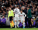 Tottenham's Eric Dier gets substituted by Jose Mourinho during the UEFA Champions League match at the Tottenham Hotspur Stadium, London. Picture date: 26th November 2019. Picture credit should read: David Klein/Sportimage