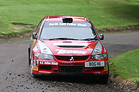 Davids Bogie / Kevin Rae near Junction 10 on the Gleaner Oil & Gas Cooper Park Special Stage 2 of the Gleaner Oil & Gas Speyside Stages Rally 2012, Round 6 of the RAC MSA Scotish Rally Championship which was organised by The 63 Car Club (Elgin) Ltd and based in Elgin on 4.8.12.........