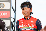 Yukiya Arashiro (JPN) Bahrain-Merida introduced to the crowd before the Tour de France Saitama Crit&eacute;rium 2017 held around the streets os Saitama, Japan. 3rd November 2017.<br /> Picture: ASO/Pauline Ballet | Cyclefile<br /> <br /> <br /> All photos usage must carry mandatory copyright credit (&copy; Cyclefile | ASO/Pauline Ballet)