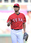 Yu Darvish (Rangers),<br /> JUNE 6, 2014 - MLB :<br /> Pitcher Yu Darvish of the Texas Rangers during the Major League Baseball game against the Cleveland Indians at Globe Life Park in Arlington in Arlington, Texas, United States. (Photo by AFLO)