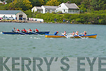 Action from the closing stages of the U14 mixed at the Cahersiveen Regatta with Sive out in front of the Sneem Crew.