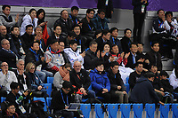 OLYMPIC GAMES: PYEONGCHANG: 17-02-2018, Gangneung Ice Arena, Short Track, South Korean President Moon Jae-in, ©photo Martin de Jong