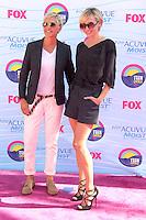UNIVERSAL CITY, CA - JULY 22: Ellen DeGeneres and Portia de Rossi at the 2012 Teen Choice Awards at Gibson Amphitheatre on July 22, 2012 in Universal City, California. © mpi28/MediaPunch Inc. /NortePhoto.com*<br />  **CREDITO*OBLIGATORIO** *No*Venta*A*Terceros*<br /> *No*Sale*So*third* ***No*Se*Permite*Hacer Archivo***No*Sale*So*third*©Imagenes*