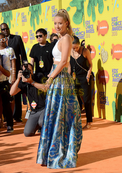 INGLEWOOD, CA - MARCH 28: Iggy Azalea arrives at the 28th Annual Nickelodeon Kids Choice Awards at the Forum on March 28, 2015 in Inglewood, California. <br /> CAP/MPI/PGTW<br /> &copy;PGTW/MPI/Capital Pictures