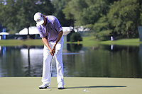 Davis Love III (USA) takes his putt on the 14th green during Thursday's Round 1 of the 2017 PGA Championship held at Quail Hollow Golf Club, Charlotte, North Carolina, USA. 10th August 2017.<br /> Picture: Eoin Clarke | Golffile<br /> <br /> <br /> All photos usage must carry mandatory copyright credit (&copy; Golffile | Eoin Clarke)