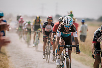 Tony Gallopin (FRA/AG2R-LaMondiale) on pav&eacute; sector #6<br /> <br /> Stage 9: Arras Citadelle &gt; Roubaix (154km)<br /> <br /> 105th Tour de France 2018<br /> &copy;kramon