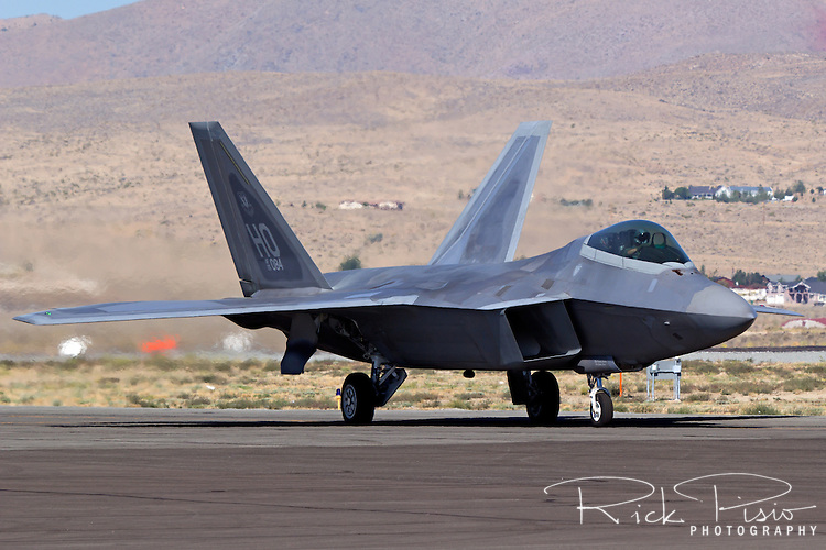 F-22 Raptor taxiing. The F-22 Raptor first entered service in 2005 after 20 years of development. In December of 2011 the 195th, and final, F-22 Raptor rolled off the Lockheed assembly line.