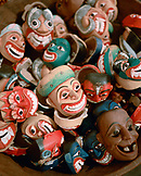 SRI LANKA, Asia, Colombo, collection of masks for sale at Barefoot Cafe.