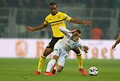 February 5th 2019, Dortmund, Germany, German DFB Cup round of 16, Borussia Dortmund versus SV Werder Bremen; Abdou Diallo challenges Maximilian Eggestein