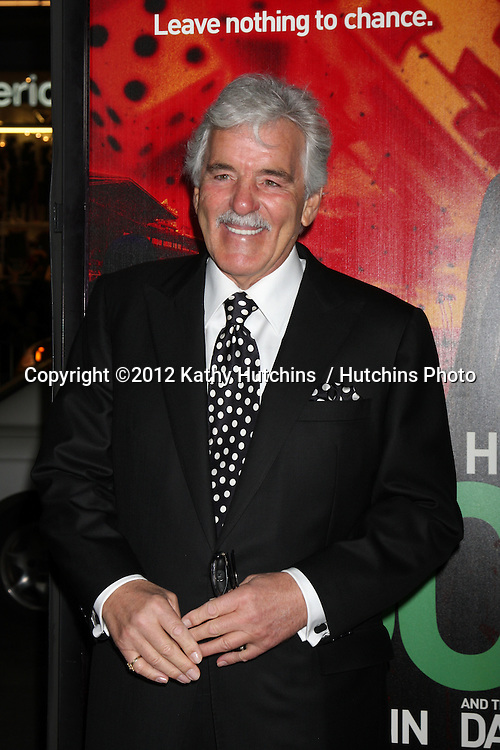 "LOS ANGELES - JAN 25:  Dennis Farina arrives at  the ""Luck"" Los Angeles Premiere of HBO Series at Graumans Chinese Theater on January 25, 2012 in Los Angeles, CA"