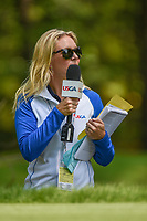 Golf analyst, Jessica Marksbury watches the action on 2 during round 4 of the U.S. Women's Open Championship, Shoal Creek Country Club, at Birmingham, Alabama, USA. 6/3/2018.<br /> Picture: Golffile | Ken Murray<br /> <br /> All photo usage must carry mandatory copyright credit (&copy; Golffile | Ken Murray)