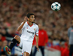 Jesus Navas of Sevilla during the Champions League Group E match at the Anfield Stadium, Liverpool. Picture date 13th September 2017. Picture credit should read: Simon Bellis/Sportimage