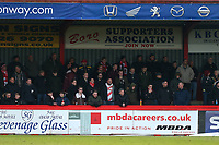 Fans look on from the North Terrace during Stevenage vs Reading, Emirates FA Cup Football at the Lamex Stadium on 6th January 2018