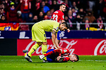 Lucas Hernandez of Atletico de Madrid (R) and Luis Suarez of FC Barcelona (L) during the La Liga 2018-19 match between Atletico Madrid and FC Barcelona at Wanda Metropolitano on November 24 2018 in Madrid, Spain. Photo by Diego Souto / Power Sport Images