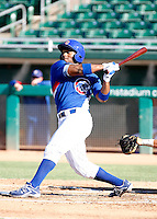 Reggie Golden - AZL Cubs - 2010 Arizona League. Golden, the Cubs second round draft choice, is playing in his first professional game against the AZL Reds at Hohokam Stadium, Mesa, AZ - 08/02/2010.Photo by:  Bill Mitchell/Four Seam Images..