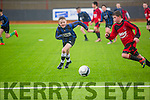 Cianan Cooney (park) in action with Mark Casey (Inter-Kenmare) in the U.13 Kerry Cup at Mounthawk Tralee on Saturday