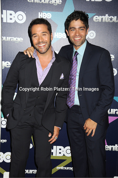 "Jeremy Piven and Adrian Grenier attending The Eighth and Final Season Premiere of the HBO Show ""Entourage"" on July 19, 2011 at The Beacon Theatre in New York City."