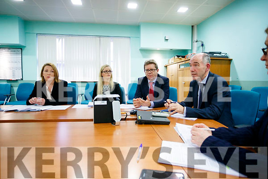 Celia Cronin Quality and Safety Manger (South/South West Hospital Group),Breda O'Riordan (Business Manager Chief Operations Officer South/South West Hospital Group), Gerard O'Callaghan (Chief Operations South/SouthWest Hospital Group,), Fearghal Grimes, (General Manager University Hospital Kerry) pictured on Monday morning last.