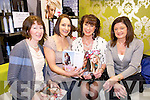 Sheila McMahon Buckley, Linda Murphy, Deirdre Durran and Bobby O'Halloranlooking at the latest Green House clothing collection during a launch of the latest styles in Expose Salon, Mounthawk on Sunday evening.