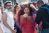 SÃO PAULO,SP, 18.06.2017 - PARADA-SP - A cantora Fafá de Belém, durante a 21º Parada do orgulho LGBT na avenida Paulista em São Paulo neste domingo, 18. (Foto: Rogério Gomes/Brazil Photo Press)