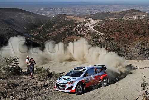 06.03.2014. GUANAJUATO, Mexico. The World Rally Championships (WRC) of Mexico.  Thierry Neuville (BEL) - Nicolas Gilsoul (BEL) - Hyundai I20 WRC