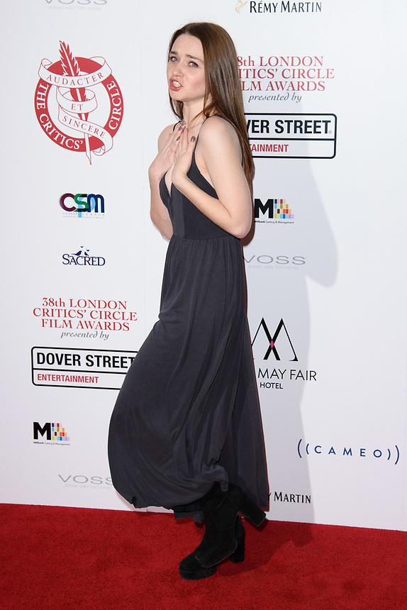 Jessica Bardem<br /> arriving for the Critic's Circle Film Awards 2018, Mayfair Hotel, London<br /> <br /> <br /> ©Ash Knotek  D3374  28/01/2018