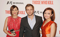 WWW.BLUESTAR-IMAGES.COM   (L-R) Actors Vera Farmiga, Max Thierot and Olivia Cooke arrive at the premiere party for A&E's Season 2 of 'Bates Motel' and the series premiere of 'Those Who Kill' at Warwick on February 26, 2014 in Los Angeles, California.<br /> Photo: BlueStar Images/OIC jbm1005  +44 (0)208 445 8588
