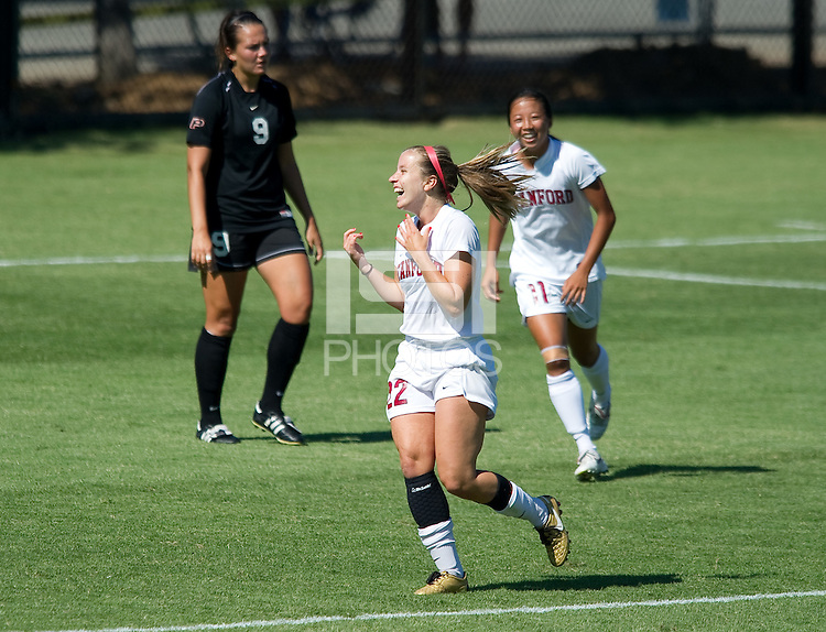 STANFORD, CA - September 12, 2010: Allison McCann during a soccer match against Pacific, in Stanford, California. Stanford won 4-0.
