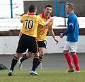 Thistle's Kris Doolan celebrates after he scores their first goal.