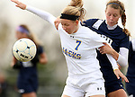 BROOKINGS, SD - OCTOBER 12: Diana Potterveld #7 from South Dakota State looks to control the ball in front of Kaily Cox #30 from Oral Roberts University in the second half of their game Sunday afternoon at Fischback Soccer Field in Brookings. (Photo by Dave Eggen/Inertia)