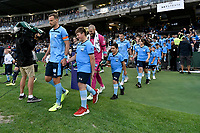 17th November 2019; Jubilee Oval, Sydney, New South Wales, Australia; A League Football, Sydney Football Club versus Melbourne Victory; Alex Wilkinson of Sydney leads his team onto the pitch