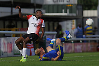 Ibrahim Meite of Woking and Alex Gudger of Solihull Moors during Woking vs Solihull Moors, Vanarama National League Football at The Laithwaite Community Stadium on 24th August 2019