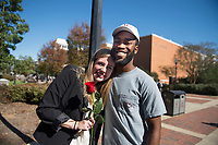 Students on Old Main Plaza.<br />  (photo by Megan Bean / &copy; Mississippi State University)