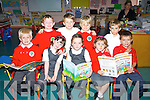 Pupils enjoying their first day at Derryquay School are front Kostas Daskalasis, Saoirse Mehigan, Orlaith Murphy,.and Jake Foley, Back l-R Thomas Sheehy, Ryan Houlihan, Diarmuid Waugh and Quin Griffin..